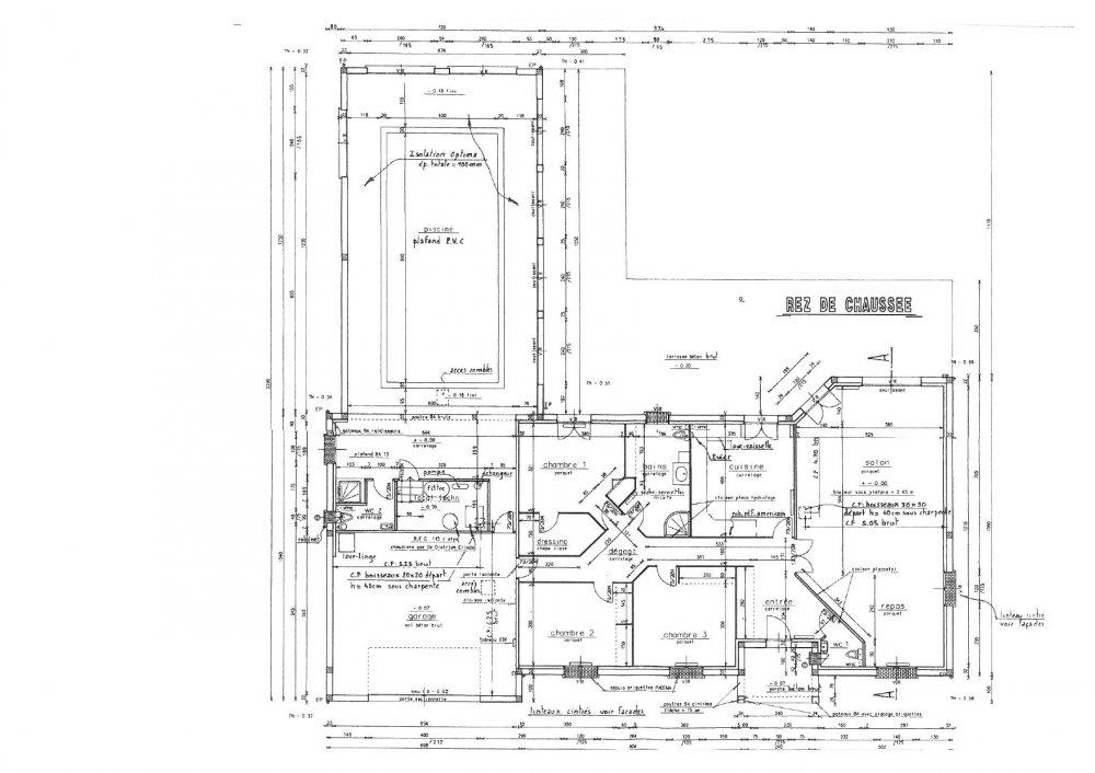 plan maison piscine interieure