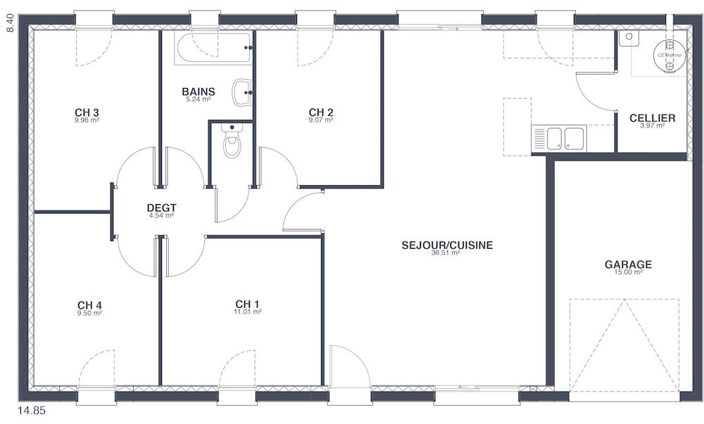 maison familiale prix canon. Black Bedroom Furniture Sets. Home Design Ideas