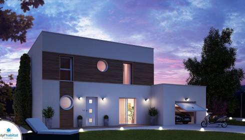 Plan maison contemporaine et moderne for Modele de maison contemporaine architecte
