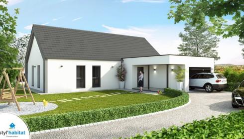 Plan maison contemporaine et moderne for Modele de maison moderne a construire
