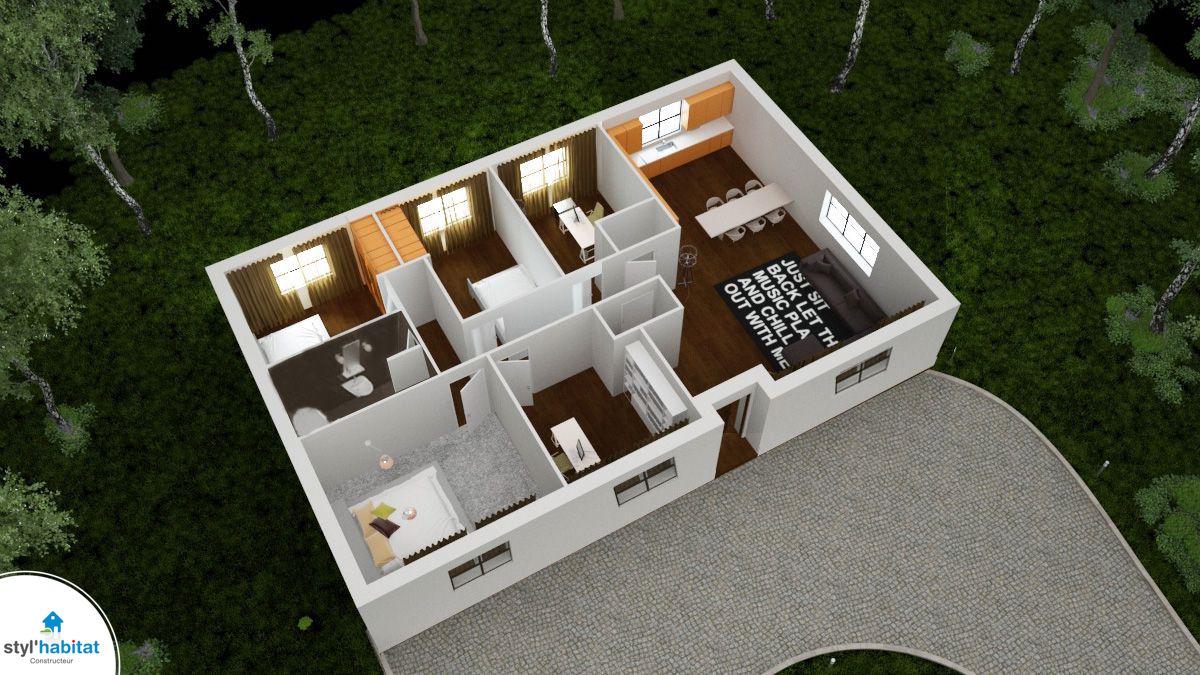 Aubetiere modele traditionnel best seller for Modele plan maison 3d
