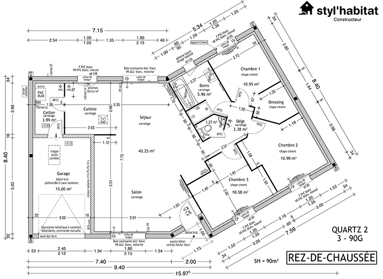 Modele De Maison Traditionnelle Avec Plan En V
