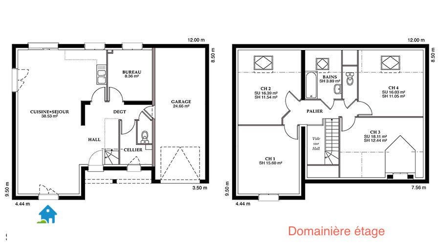 Maison De Plain Pied Avec Tour Centrale Modele 8