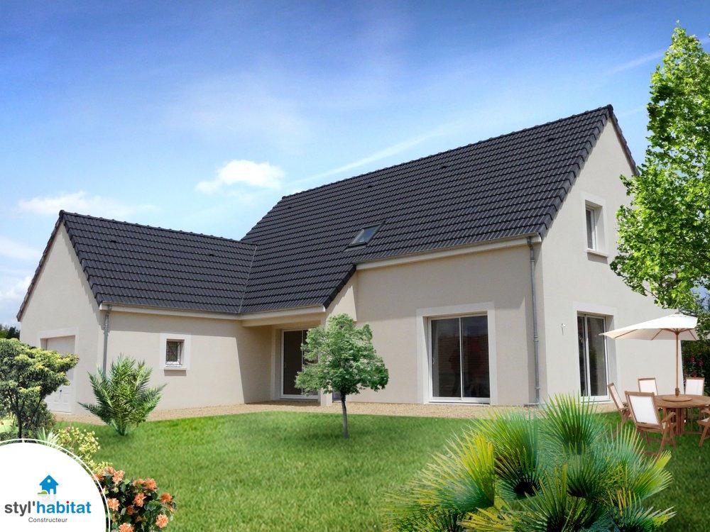 Photo r alisation styl habitat maison en l double garage for Maison en l