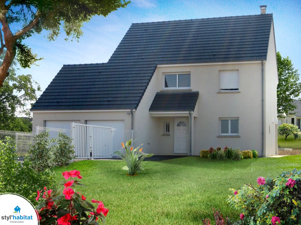 photo r alisation styl habitat maison moderne toit plat. Black Bedroom Furniture Sets. Home Design Ideas