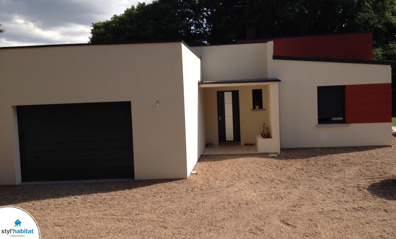 Photo Realisation Styl Habitat Maison Contemporaine Bi Couleurs
