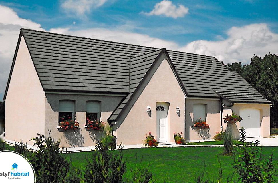 photo r alisation styl habitat maison droite toiture 5 pentes. Black Bedroom Furniture Sets. Home Design Ideas