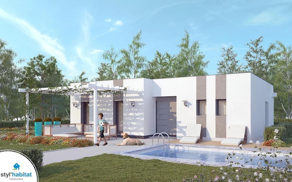 Tanzanite maison contemporaine pas ch re for Construction maison design pas chere