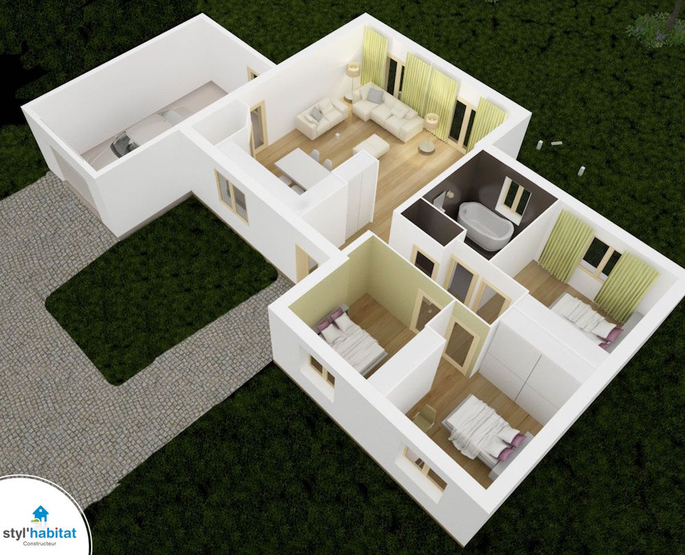 plan 3D styl habitat venus