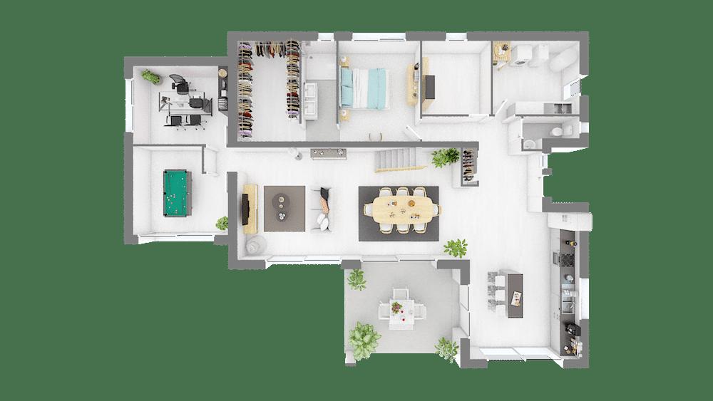 Plan Maison Emeraude